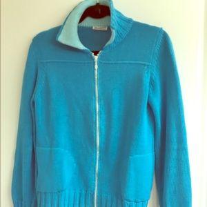 Rosanna Portofino knit sweater w/ sparkling zipper